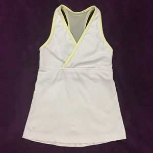 lululemon athletica Tops - Lululemon yellow polka dot deep V tank size 2